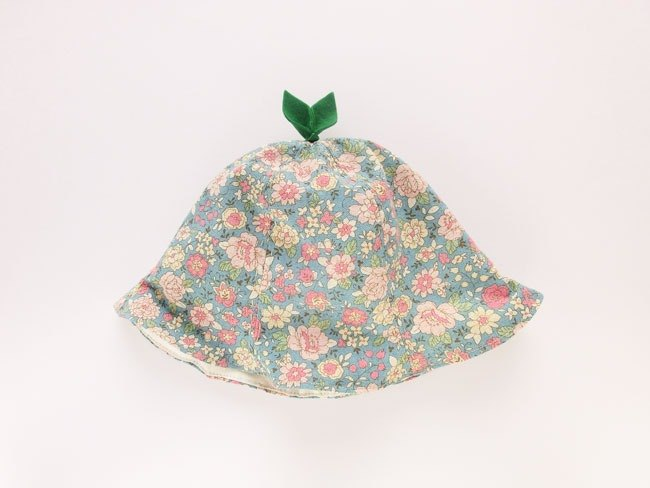 Grow Up! Leaf Hat for Baby & Toddler / Blue Flowers
