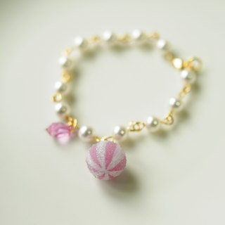 Sweet Dream ☆ kumquat sugar delicious pearl bracelet / monochrome models