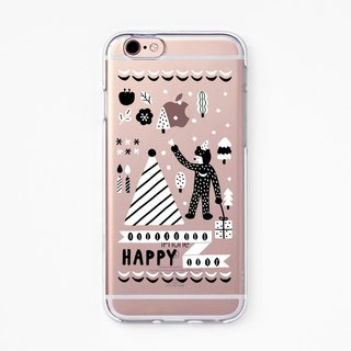 iPhone Rubber Case - Makitoy Happy - for iPhones - Clear Flexible Rubber case