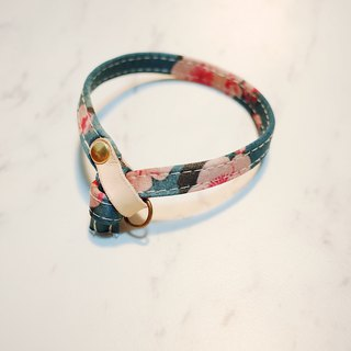 Cat collar cherry blossom fragrance satin cloth vegetable tan skin attached bell can add purchase tag