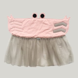CLARECHEN anti-cool belly _ crab (S) 0-3 years old _baby pink_ gray yarn _ limited color