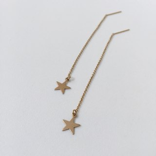 twinkle / string earrings with stars