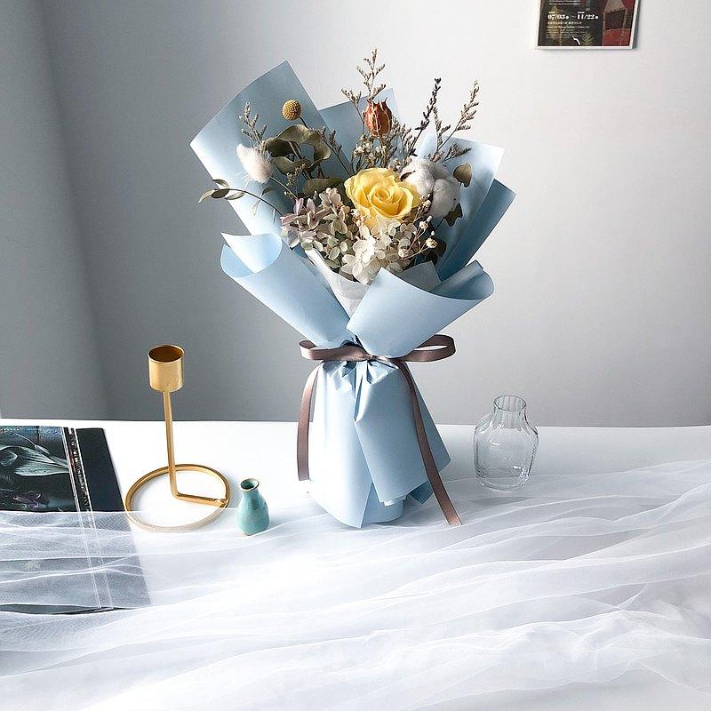 海藍 花束 永生花束 乾燥花束 畢業花束 畢業禮物