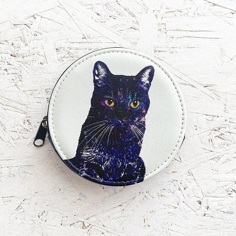 硬幣情況銀河貓/零錢包錢包貓太空太空貓動物明星