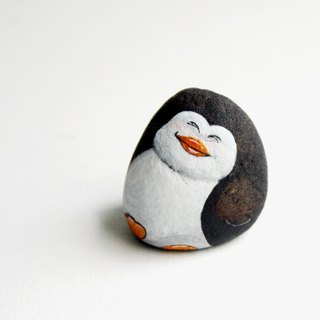 penguin stone painting.