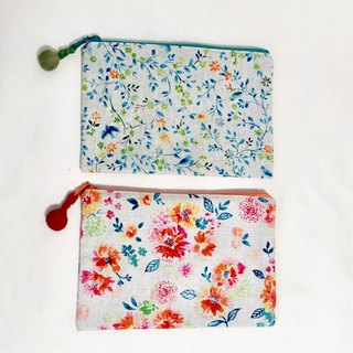 Cosmetic bag - imported from Japan - small floral print