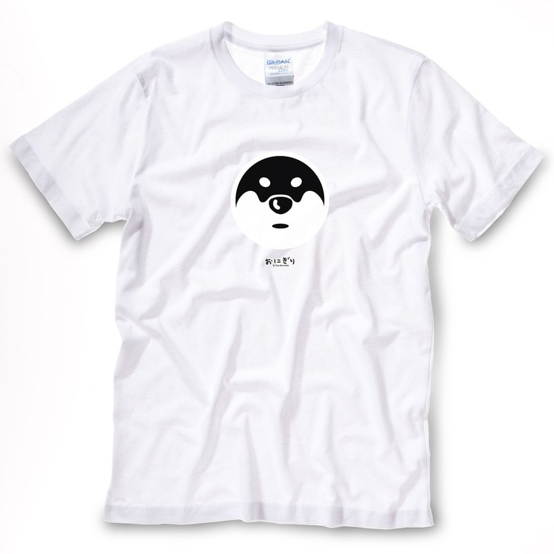 小飯糰 中性T恤 劍道神秘柴 白色短T