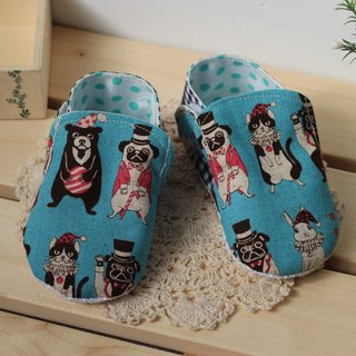 Animal Circus - blue toddler shoes