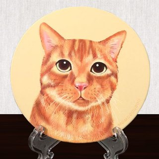 ginger cat water coaster