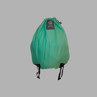 grion waterproof bag - back section (L) Tiffany Green