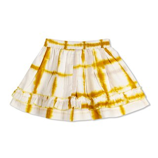 CHANDAMAMA Advika White w/merigold Yellow Skirt