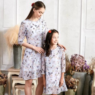 (Mommy & Me) Floral Lace Dress (set of 2)