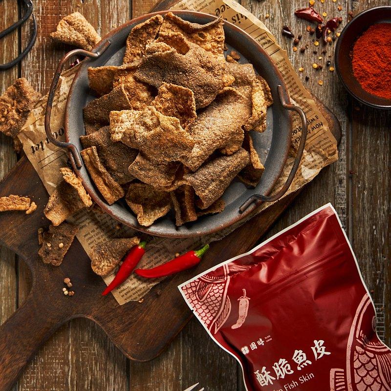 【 鱈魚食材 】麻辣 酥脆魚皮 2包
