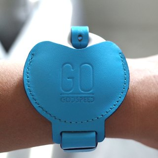 GOstrap-sky blue-GOGORO key leather bracelet