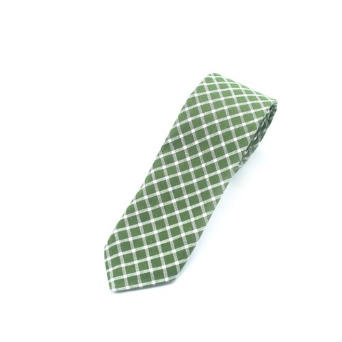 Caveman Tie - Green Checks