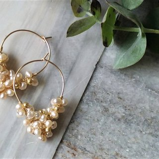 Water Drops Natural Pearl 14K Gold Earrings