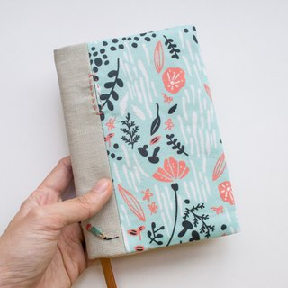 Jot of Ideas fabric A6 bookcover - Botanical Springtime