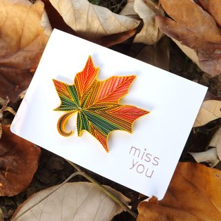 Hand made decorative cards-Maple Leaf