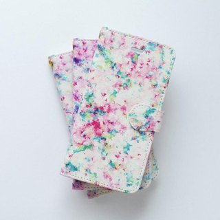 "[Order Production] Handbook Type Smart Case ""Pink and Green, Sunlight Leaked Day"""