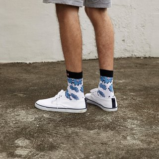 Hong Kong Design | Fool's Day stamp socks -BreezyWhite 00002