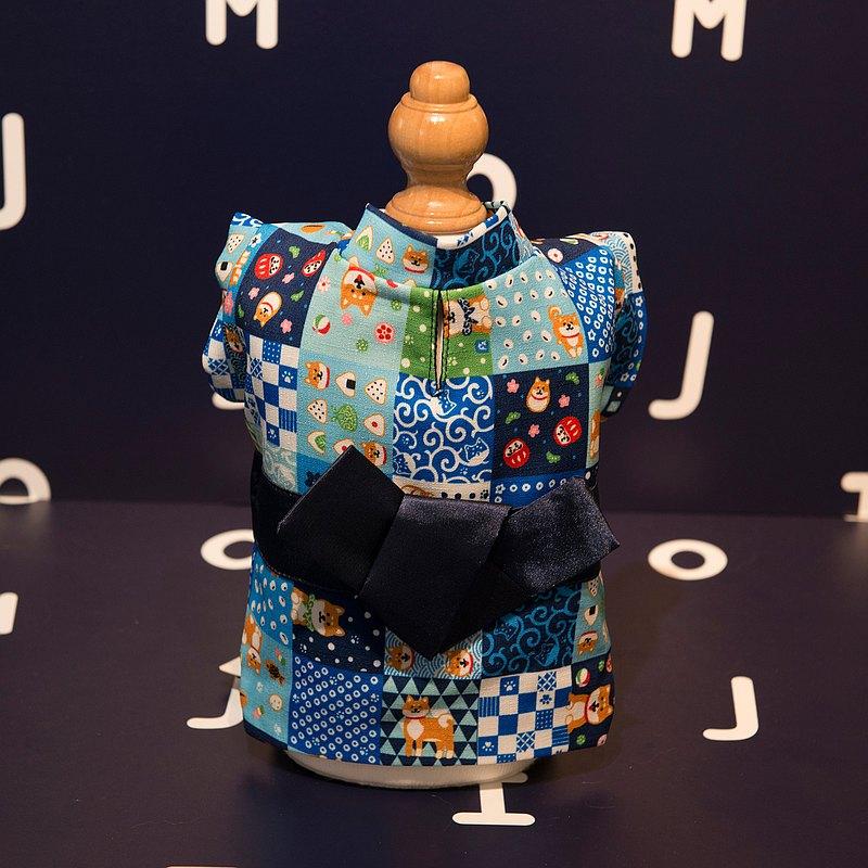 【Momoji】 寵物節日服裝 - Shibasekai (01-藍色圖案)