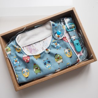 Robot Chick Handmade Bib Box Set