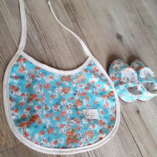 Azure Garden Moonmoon Gift Box Two Piece Set (Baby Shoes + Bib)
