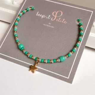 [Stock] green clearing Little Star • tubular beads • bracelet • bracelet gift