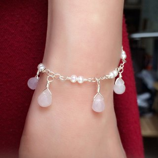 Creative handmade crystal pearl bracelet drop type section 925 silver custom birthday gift [beauty tears]
