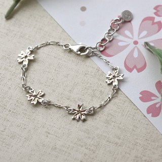 Sakura (Purple Silver Plated Rose Gold/White K Bracelet Silver Valentine's Day Gift) ::C% Handmade Jewelry::