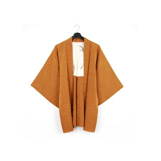 Back to Green-Japan with back feather weaving/vintage kimono