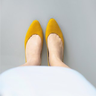 WL AKi 百搭系 (芥末黃) Spicy Mustard Low Heels