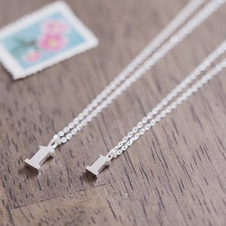 2 set) Number 1 pair Necklace Silver 925