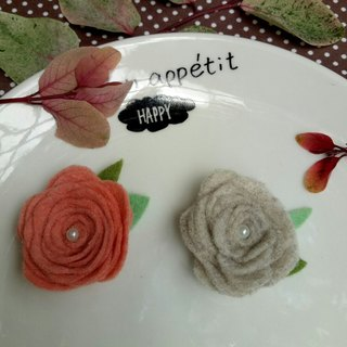 [1 + 1 felt roses hair ring] 2 into the combination discount optional color girlfriends sister