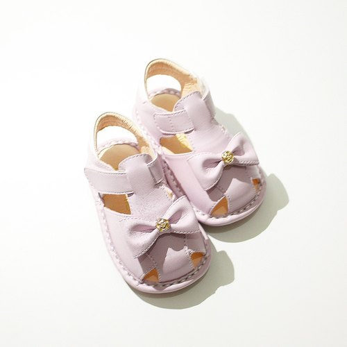 (Zero code special) Qiang Wei bow baby sandals - lavender purple 12.5