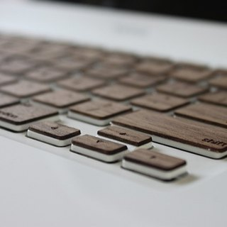 Black walnut solid wood keyboard foil Macbook Air Pro 11 12 13 15 Mac Wooden keyboard customization