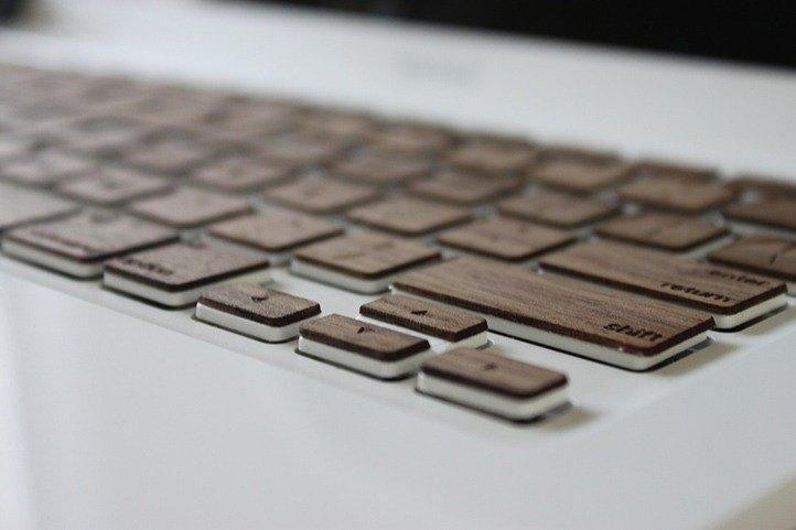 黑胡桃木 實木鍵盤 貼膜 Macbook Air Pro Mac 木質鍵盤 客制化