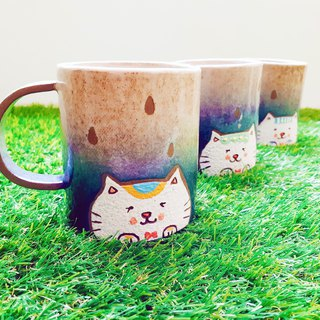 Cat Pottery Cup