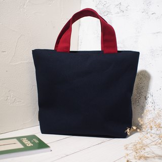 Pastoral series tote bag / canvas bag / limited edition handmade bag / midnight blue / pre-order