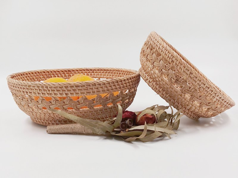 Handmade rattan food basket