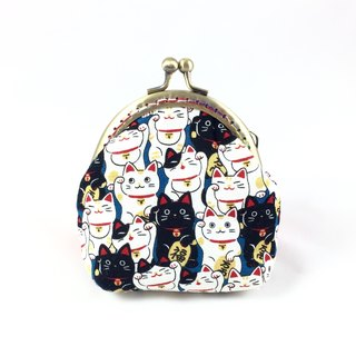 Small mouth gold bag - Lucky cat