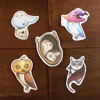 Halloween owl waterproof sticker