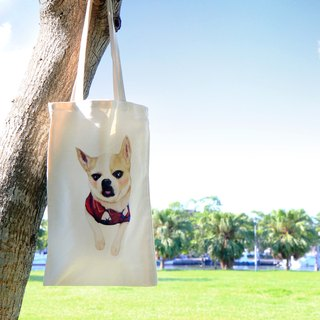 <Mr. Yang > Chihuahua Tote Bag / Dogie Puppy Dog Animals Pets