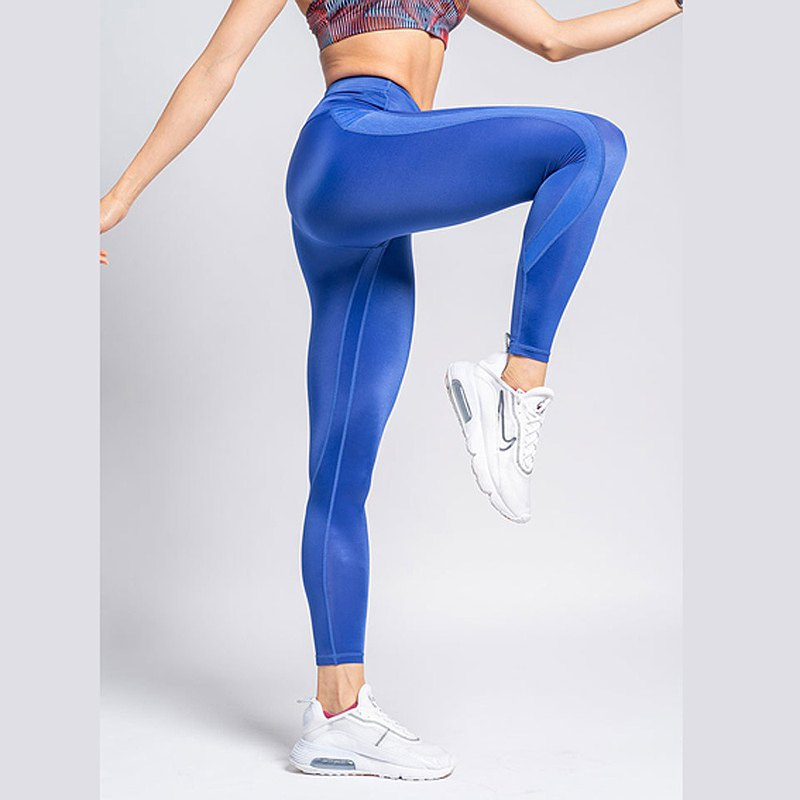 Women's Day New Product MIT Collagen Reflective Checkered Tights Pressure Pants Medium Tightness