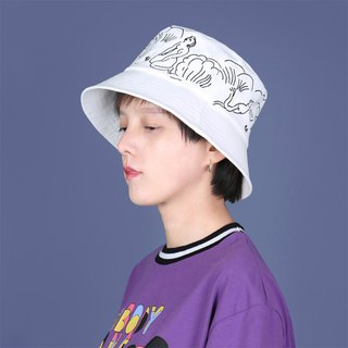 YIZISTORE Embroidery Fisherman Hat Sun Visor Casual Short Flat Top Hat