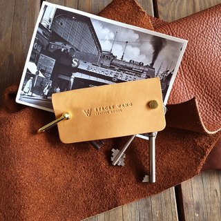 Vegetable tanned leather Wallets Handmade Key Pouch - Nautral (large)