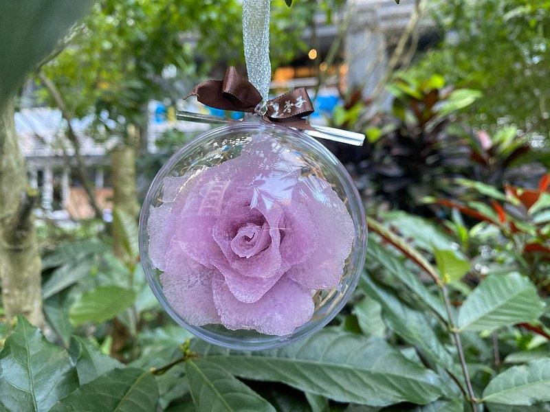 玫瑰花手工精油皂 - 雪球包裝聖誔節限定
