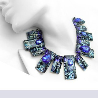 Necklace Blue Forest