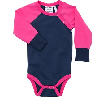 [System] Swedish organic cotton classic stitching package fart clothes red / blue (for 12M-18M)