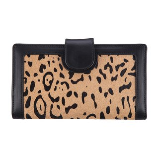 DORIS long clip _Leopard / flower leopard